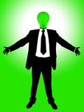 Lamp businessman Stock Photo