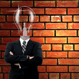 Lamp businessman Royalty Free Stock Photos