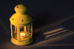 Lamp With Candle Royalty Free Stock Images