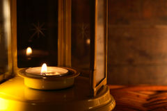 Lamp With Candle Royalty Free Stock Image
