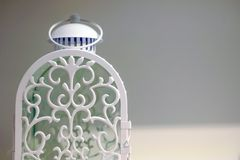 Lamp with carrying ring. A door for placing the candles royalty free stock photo