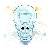 Lamp cartoon character Stock Photo