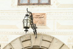 Lamp on castle Rozmberk Royalty Free Stock Photography