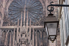 Lamp and Cathedral Stock Photos