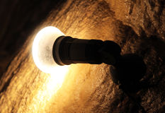 Lamp in the cave Stock Image