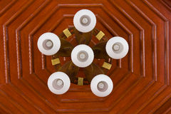 Lamp on the ceiling. Of Thai wood house at Thailand Stock Photography