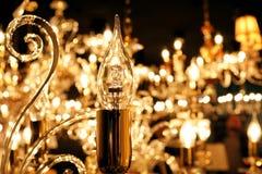 Lamp  chandelier close-up. Light decoration concept. Stock Image