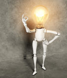 Lamp character shows the ok Royalty Free Stock Images