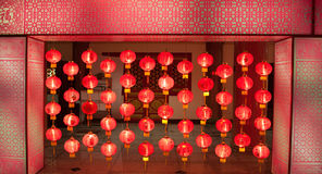Lamp china temple with buddha Royalty Free Stock Image