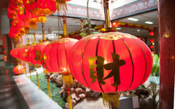Lamp china temple with buddha Stock Photography