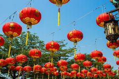 Lamp of Chinese. Red lamp of Chinese for festival Royalty Free Stock Photos