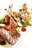 Lamp chop. Meal beautiful displayed Stock Photography