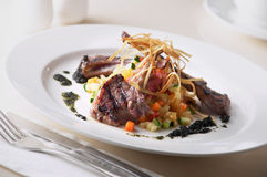 Lamp chop. Delicious grilled lamb chops served Stock Photo