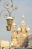 Lamp Church of savior on Spilled Blood in St. Petersburg, Russia. Stock Images