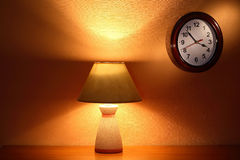 Lamp And Clock Royalty Free Stock Image