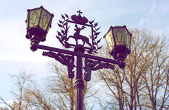 Lamp with coat of arms of Nizhny Novgorod. The lantern with the emblem of Nizhny Novgorod, Russia Stock Photography