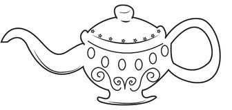 Lamp coloring page. Useful as coloring book for kids Royalty Free Stock Image