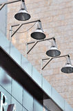 Lamp composition on city building Royalty Free Stock Photo