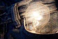 Lamp Concepten startideeontwerp Creatieve zaken als achtergrond Royalty-vrije Stock Fotografie