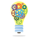 Lamp consisting of gears. Lamp composed of gears on a white background Stock Image