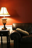 Lamp and the Couch - Vertical Shot Stock Photography