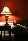 Lamp and the Couch - Vertical Shot Stock Photo