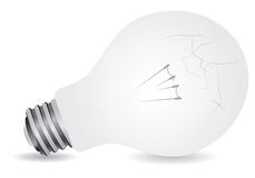 Lamp cracked Royalty Free Stock Photography