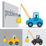 Lamp crane Stock Images