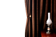 Lamp and curtain Royalty Free Stock Image
