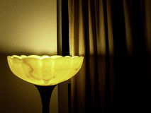 Lamp and Curtian Stock Images