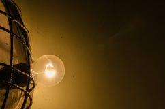Lamp in the dark Stock Photo