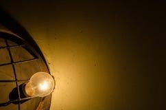 Lamp in the dark Stock Photos
