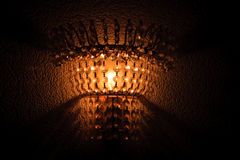 The lamp in the dark Stock Photo