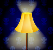 Lamp in dark Stock Photography