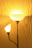 Lamp in darkened room Stock Photos