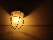 Lamp in the darkness 2. Lamp which is in tenotome, in a dark room Stock Image