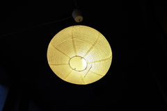 Lamp in darkness Royalty Free Stock Image