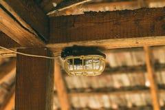 Lamp in de zolder royalty-vrije stock fotografie