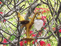 Lamp decorations Thai style, outdoor, in the park. royalty free stock image