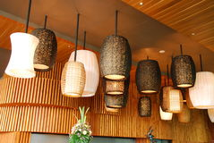 Lamp design in canteen Stock Photography