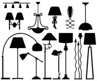 Lamp Design for Floor Ceiling Wall Stock Image