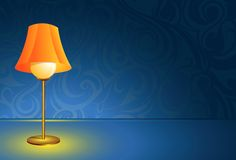 Lamp on the desk Royalty Free Stock Images