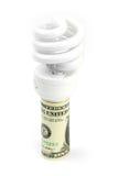 Lamp and dollar Stock Photos