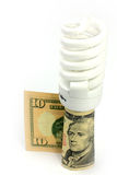Lamp and dollar Royalty Free Stock Image