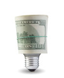 Lamp with dollars Stock Image