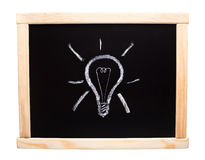 Lamp, drawn on blackboard Royalty Free Stock Photography