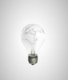Lamp earth Royalty Free Stock Images