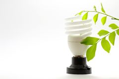 Lamp and Eco stock photo