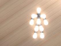 Lamp in een menselijk lichaam wordt geplaatst dat. Royalty-vrije Stock Afbeelding