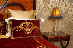 Lamp in een slaapkamer Royalty-vrije Stock Fotografie